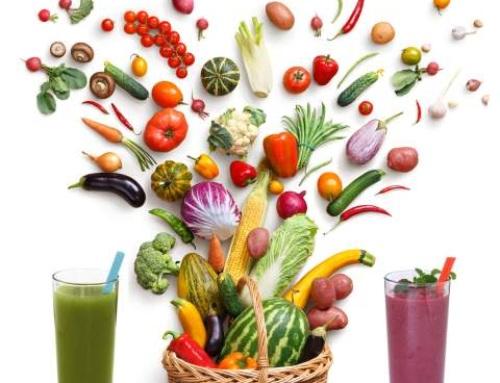 Juice mix af frugt og grøntsager